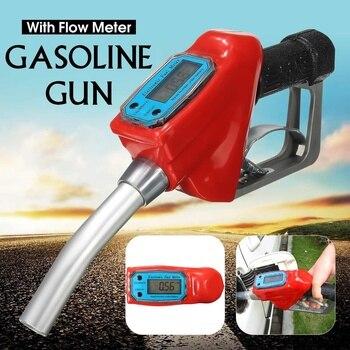 Doersupp Digital Flow Meter Indicator Fuel Gasoline Petrol Oil Refueling-Gun Nozzle Aluminum Gas Station Refuel Injection Tools