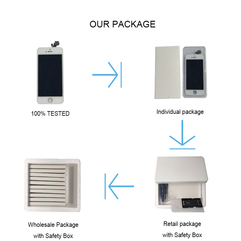 Image 5 - 1PC Full Set LCD Display For iPhone 6 6S Plus LCD Screen Digitizer Assembly 6P 6SP Complete Screen with Front Camera+Home Button-in Mobile Phone LCD Screens from Cellphones & Telecommunications