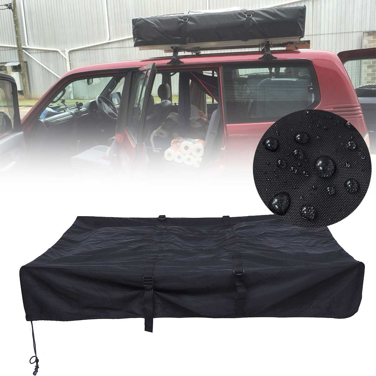 Portable ClothesLine Hanger for Awning Roof Top Tent Rack Camper Trailer Camping