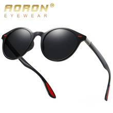 AORON Sunglasses Men TR Metal Polarized Vintage Round Sport UV400 Retro Sun Glasses Women Mirror Eyewear Classic Luxury Brand