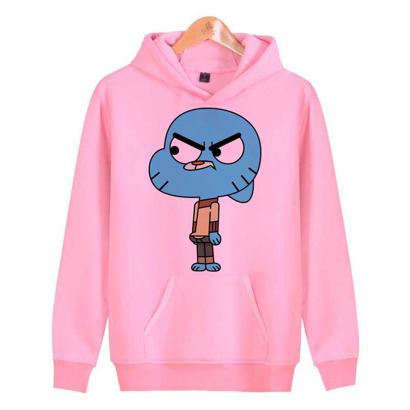 Gumball Amazing World Hoodies Sweatshirts Streetwear Male Homme Harajuku Hip Hoddies Hop Men/women Pullover J1098