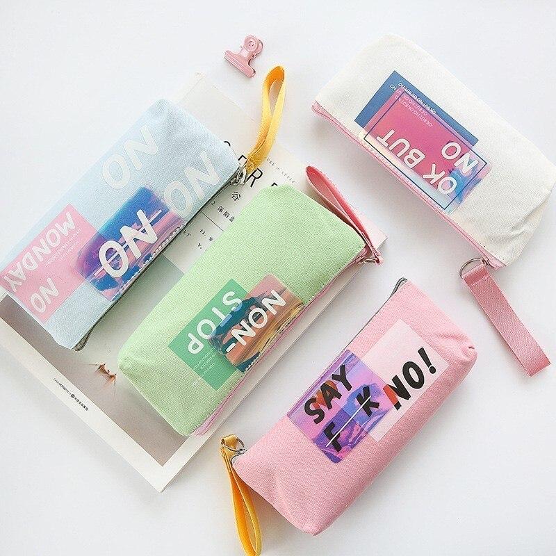 1 Pc Kreative Große Volumen Stoff Bleistift Fällen Box Bunte Stift Fall Taschen Für Mädchen Junge Schule Büro Stationären Versorgung 05197