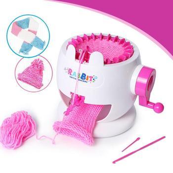 761dc0bca2f3 Máquina de tejer de plástico para niños, juguete para niñas, telar, juego  de telar, tejedor de ...