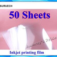 50 шт. прозрачный абсолютно размер А4(297x210 мм) только для струйного принтера печати пленки