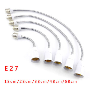 18 28 38 48 58cm E27 Flexible LED light Bulb Base Converters E27 to E27 Socket plug Extension cord wall Lamp Holder Adapter(China)