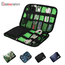 BalleenShiny High Grade Nylon Waterproof Travel Electronics Accessories Organiser Bag Case for Chargers Cables
