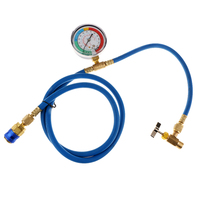 Auto Car R134A Recharge Hose with Can Tap Measuring Charging Pipe Gauge Auto Replacement Parts