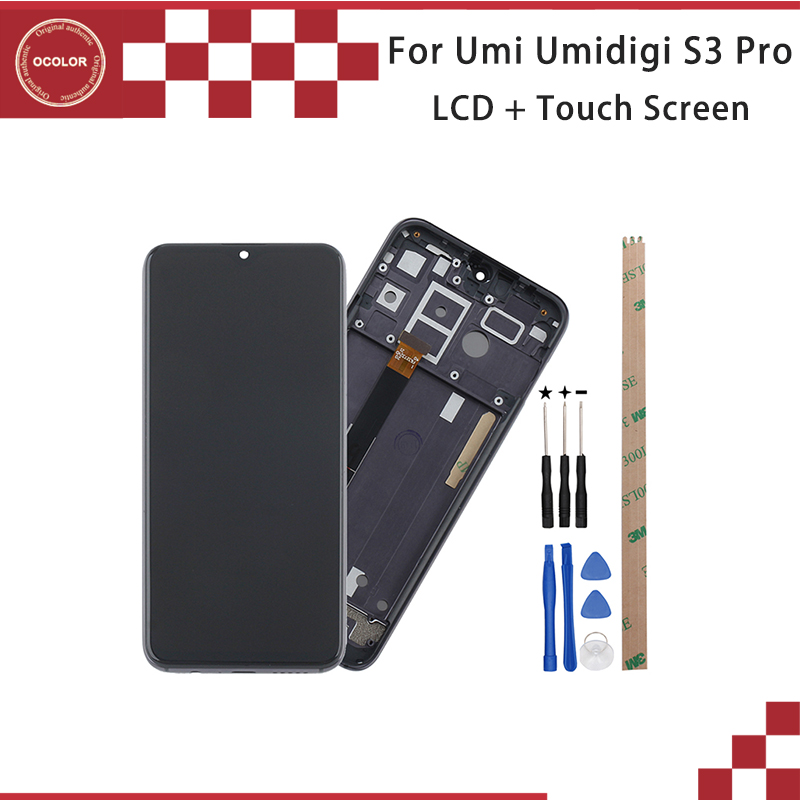 ocolor For UMI UMIDIGI S3 PRO LCD Display Touch Screen Digitizer Assembly With Frame 6 3