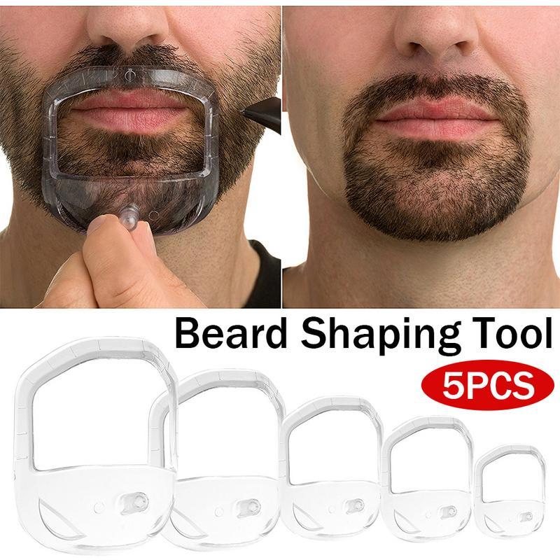 5Pcs/lot Creative Beard Accessories Symmetric Cut Goatee And Neck Line Mustache Grooming Beard Care Shaper Tool