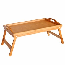 Portable Bamboo&Wood Foldable Breakfast Table Bed Serving Tray Style Low Tea Table Furniture Folding Laptop Desk Food Table thai crafts wooden tray table foldable legs window small table thai furniture southeast asian style home bamboo tea table