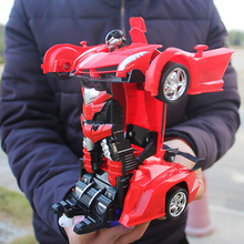 лучшая цена XYCQ RC Car Transformation Robots Sports Vehicle Model Robots Toys Cool Deformation Car Kids Toys Gifts For Boys
