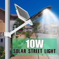 Smuxi 10W Solar LED Street Light Lamp With Pole Solar Powered Light Control IP65 Waterproof for Outdoor Road Wall Night Lamp