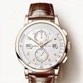 LOBINNI мужские часы Switzerland люксовый бренд автоматические механические мужские наручные часы сапфир кожаный трациметр relogio L16001-3