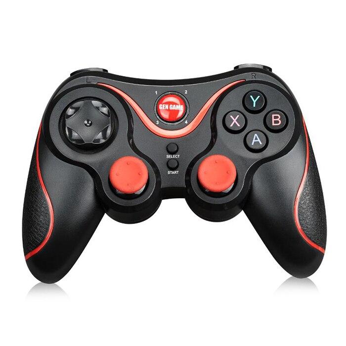 GEN JOGO Controlador de Jogo Gamepad Joystick Sem Fio Bluetooth 3.0 S3 S3 Smartphone PK T3 S5 Controlador Para PC Android