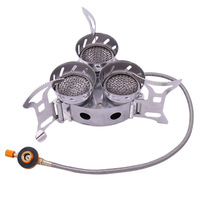 11000W Camping Stove Three Core Outdoors Stove Furnace High power Windbreak Camp Furnace For Hiking Camping Climbing