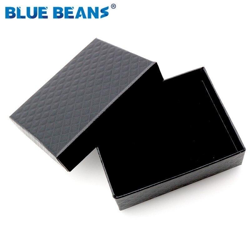 Novo 1pc quadrado jóias caixa organizador anel de noivado para brincos colar pulseira exibição caixa de presente titular preto vermelho branco marinha