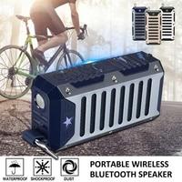 Portable Wireless bluetooth Speaker Stereo Subwoofer Bass HIFI Mini Outdoor Speaker with Flashlight for Bike Music Player
