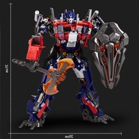 Transformation WJ W8022 Anime Movie Series Figure Combat Robot Deformation Car More Steps Alloy Abs Plastic Large Size Toy Boy