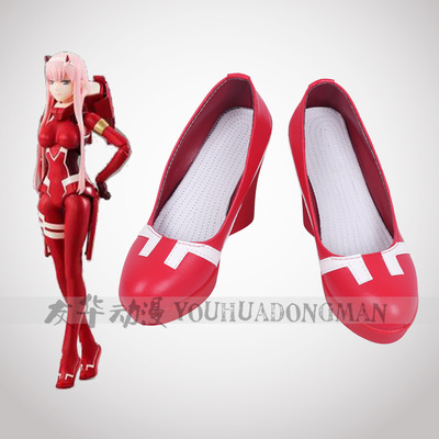 Game Darling in the Franxx 002 Cosplay Women's <font><b>shoes</b></font> Cute sweet dance <font><b>shoes</b></font> cosplay <font><b>Red</b></font> high heels <font><b>lolita</b></font> <font><b>shoes</b></font> custom made image