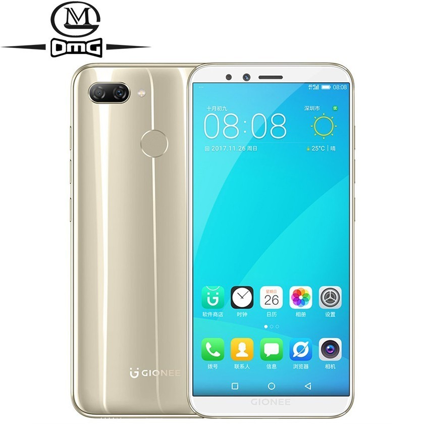 "Gionee S11 Lite Android 7.1 4G Smartphone MSM8937 Snapdragon 430 Octa Core mobile phone 5.7"" 4GB RAM Unlock Fingerprint phones"