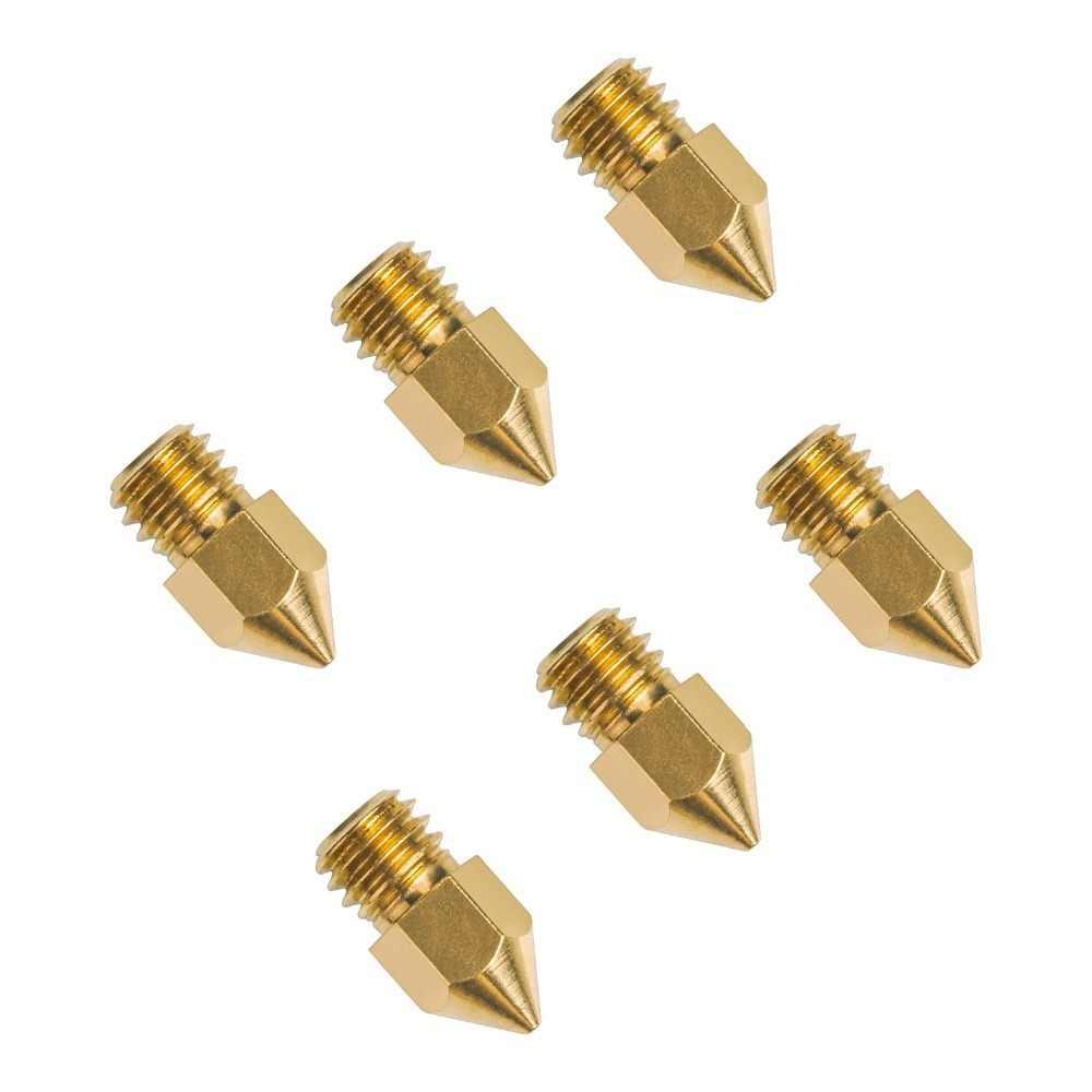 Детали для 3D принтеров MK7 MK8 сопло 0,2 0,3 0,4 0,5 0,6 0,8 1,0 мм медный экструдер с резьбой 1,75 мм 3,0 мм Головка накаливания латунные сопла