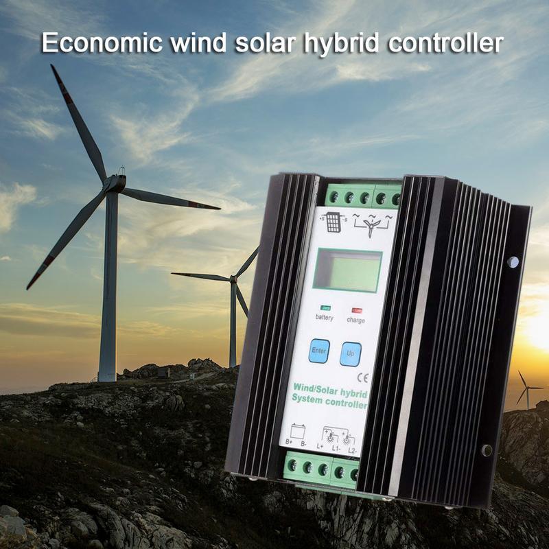 1200W Wind Solar Hybrid Controller 50A 24V Auto 800W Wind Turbine 400W Solar Panel Charge Controller LCD Display Free Shipping free shipping 24v auto wind
