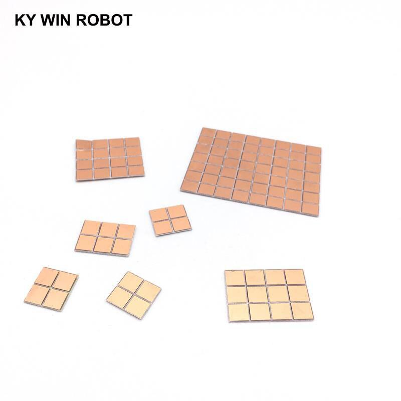 100pcs FR4 PCB 6.5*7mm Double Side Copper Clad Plate DIY PCB Kit Laminate Circuit Board 0.65x0.7cm 6.5x7x1.0mm