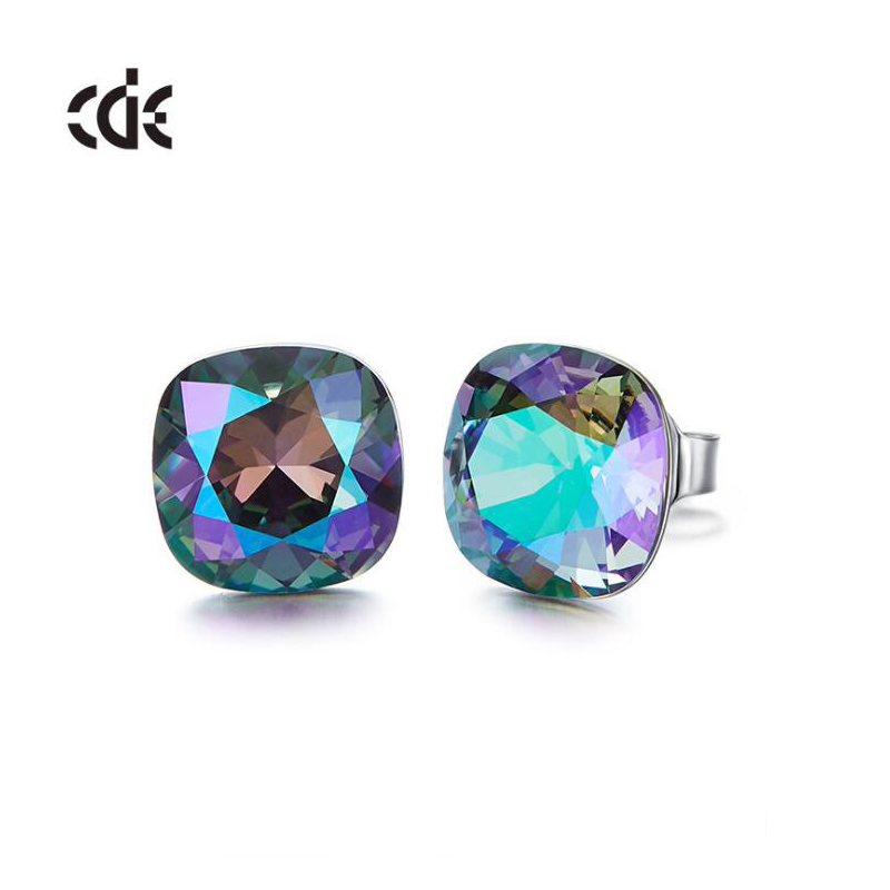 CDE 925-Sterling-Silver Earrings Jewellery Swarovski Crystals Womens with Embellished