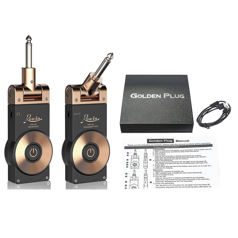 HOT-Rowin Ws-20 2.4G Wireless Guitar Transmitter Electric Guitar Transmitter Receiver Set 30 Meters Transmission Range Usb Cab