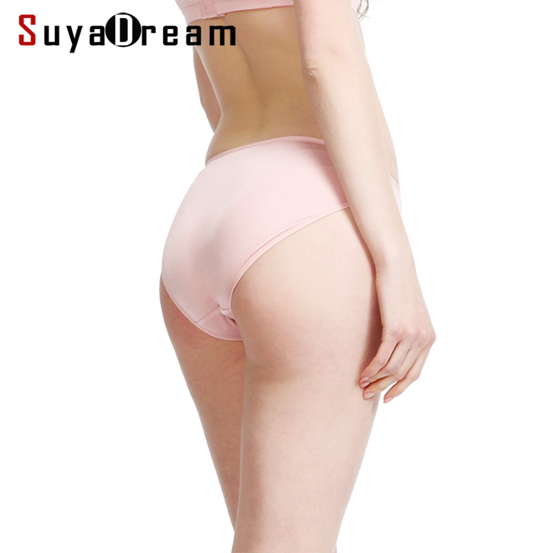 3pcs/lot Women Panties 100% Natural silk Briefs Mid-rise Underwear women Health Underpants 2019 New Everywear Intimates