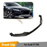 Front Lip Spoiler For Audi TT RS 2016 2017 2018 Carbon Fiber Bumper Lip Bodykits 3pcs Style
