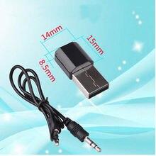 Sem fio Bluetooth USB 3.5 milímetros AUX Áudio Estéreo Adaptador Receptor de Música Carro Para Casa