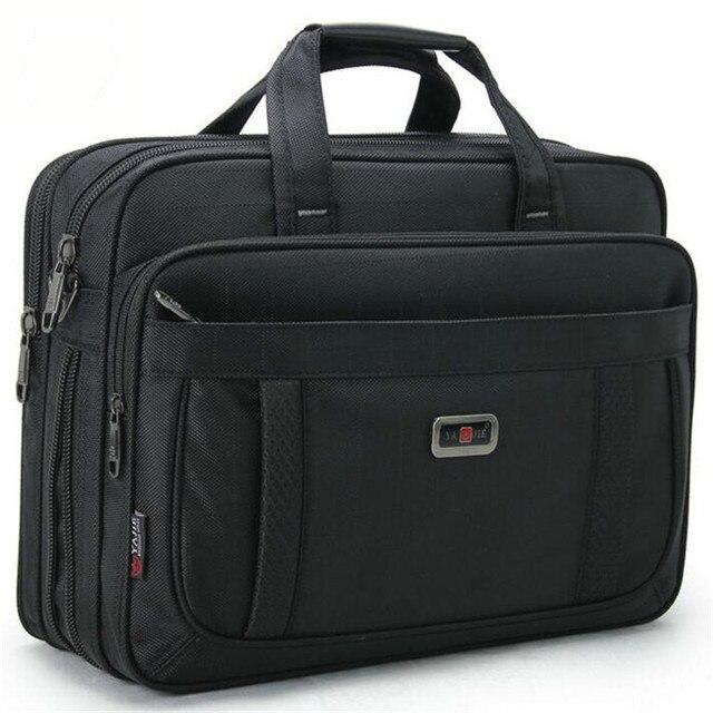 Volasss 2020 Klassische Aktentaschen Für Männer Handtaschen Hohe Qualität Wasserdichte Nylon Tuch Frauen Business Reise 15,6 Zoll Laptop Taschen