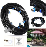 Garden Tools Set 8M Outdoor Cooling Watering Kits Patio Misting System Fan Water Misting Atomizer Garden Sprinkler Sprayer Kits|Watering Kits| |  -