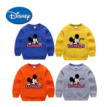 DISNEY Mickey  Children Clothes Long Sleeve Sweater For Baby Girls And Boys  Jacket Keep Warm Hoodie Tops To Kids