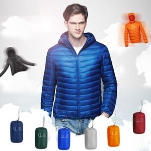 Image 2 - NewBang למטה מעיל זכר קל במיוחד למטה מעיל גברים של מעילים חמים מעיל רוח מעיל קל משקל נוצה במקומות Parka מעיל נוצות