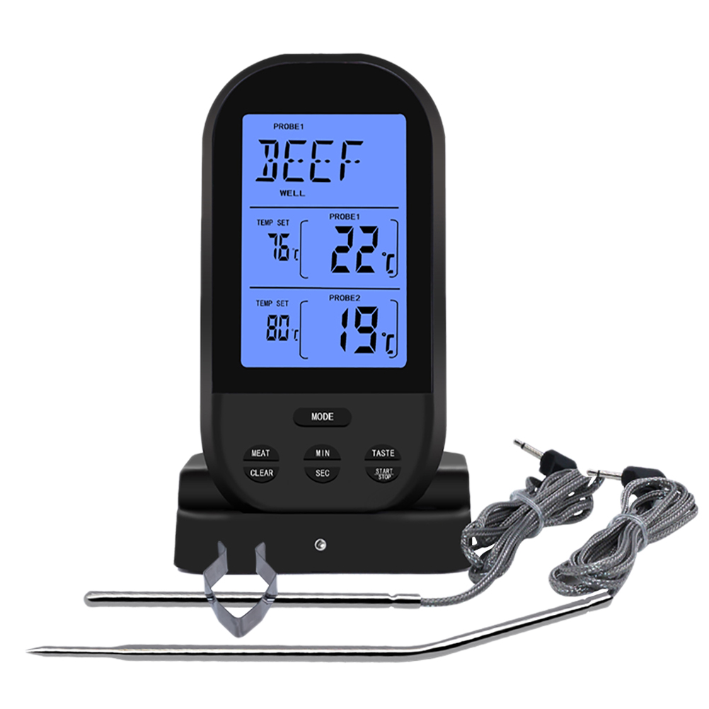 Remote Wireless Digital Meat Cooking Food Thermometer for ...