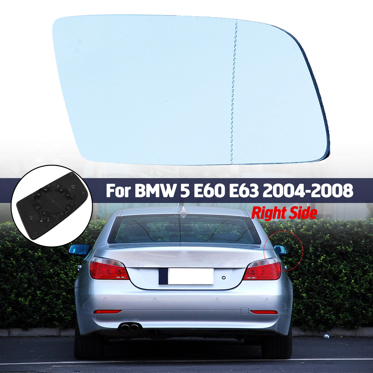 HEATED Mirror Glass with BACKING PLATE for MERCEDES-BENZ C CL E GLK S CLASS Passenger Side View Right RH