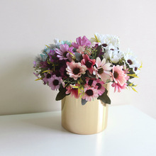 Gerbera Jamesonii Simulation Bouquet Artificial Flowers Pot DIY Accessories Hotel Desktop  Arrangement Wall Decoration Flower