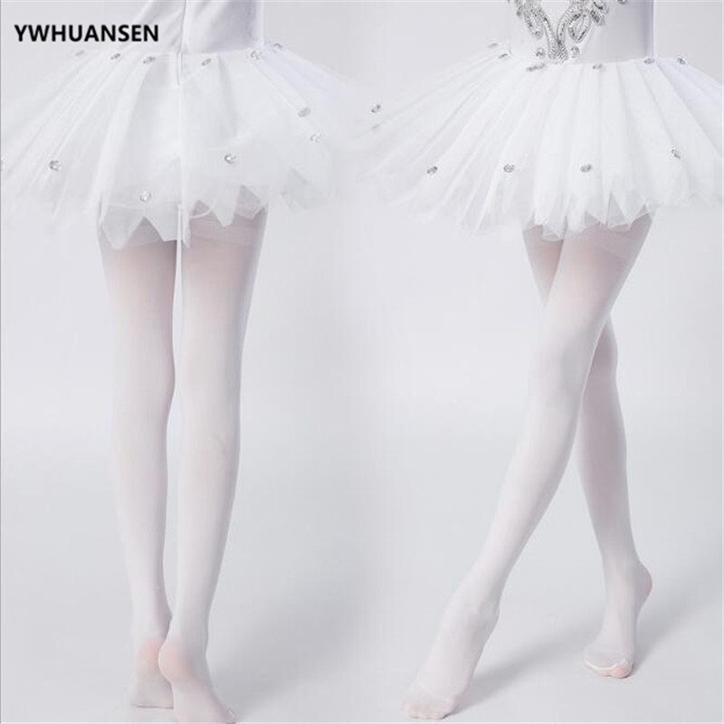 YWHUANSEN Summer Spring Candy Color Kids Pantyhose Ballet Dance Tights for Girls Stocking Children Velvet Solid White Pantyhose 2