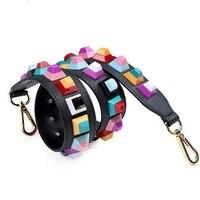 Fashion Rivet Handbag Strap Bags Accessories Leather Shoulder Strap Cuero Handbag Straps Replacement Correas Para Bolsos Mujer