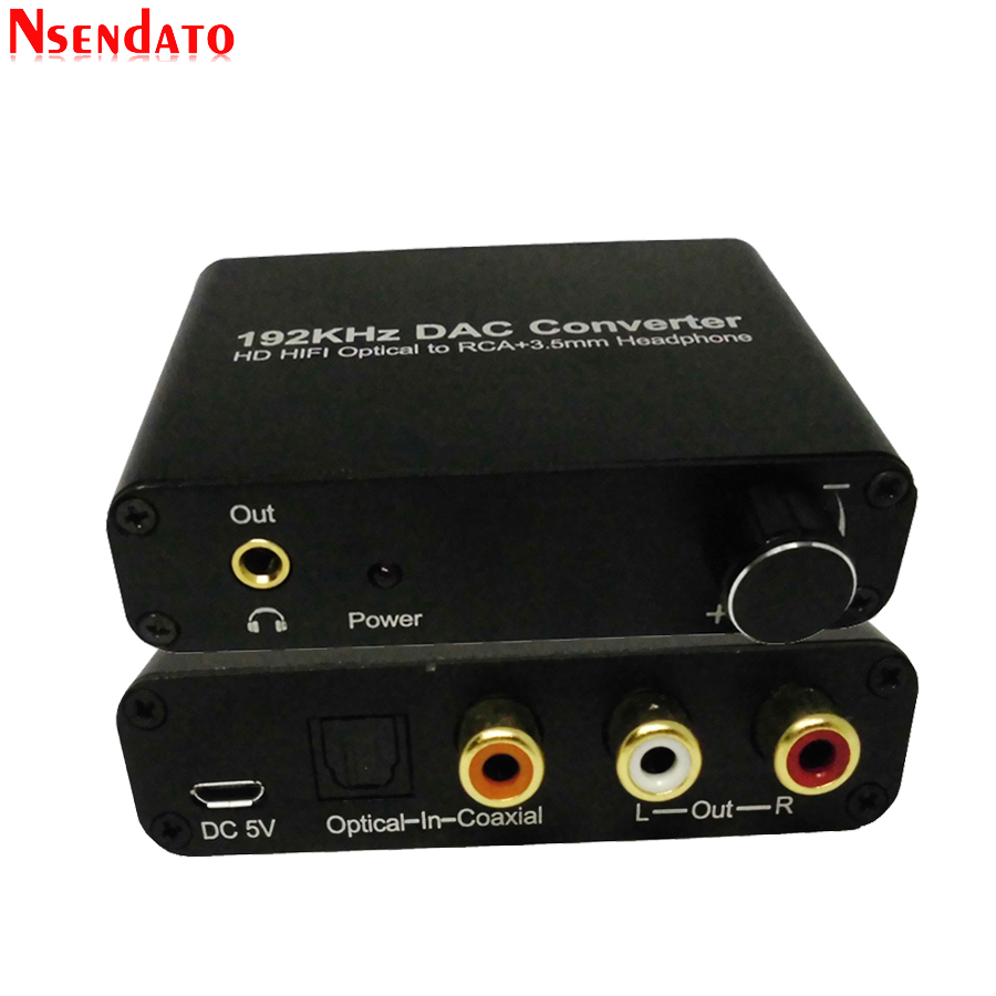 192kHz DAC 5.1CH <font><b>Audio</b></font> Decoder converter Adapter For Dolby DTS AC3 to 2.0CH <font><b>Optical</b></font> Coaxial to RCA <font><b>3.5mm</b></font> <font><b>Audio</b></font> Digital Converter image