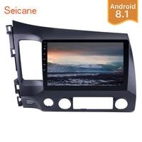 Seicane Android 8,1 2Din 10,1 Автомобиль Радио Стерео для 2006 2007 2008 2009 2010 2011 Honda Civic gps мультимедийный плейер головное устройство