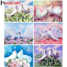 Huacan 5D DIY Diamond Painting Animal Full Square Embroidery Pigeon Mosaic Picture Rhinestone Decoration Home