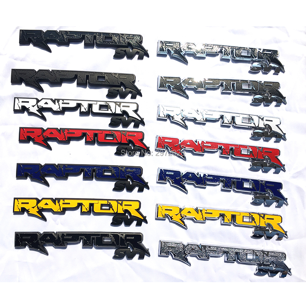 10 x Newest 3D Car Trunk ABS Badge Emblem For RAPTOR SVT Tailgate Accessories Adhesive Car Styling Badge Decal for Ford F150