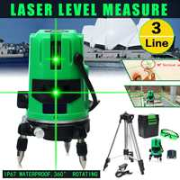 Green Beam 3 Lines 4 Points Laser Level 360 Rotary Ourdoor Indoor Laser Line Self Leveling with Tripod Horizontal Vertical Cross