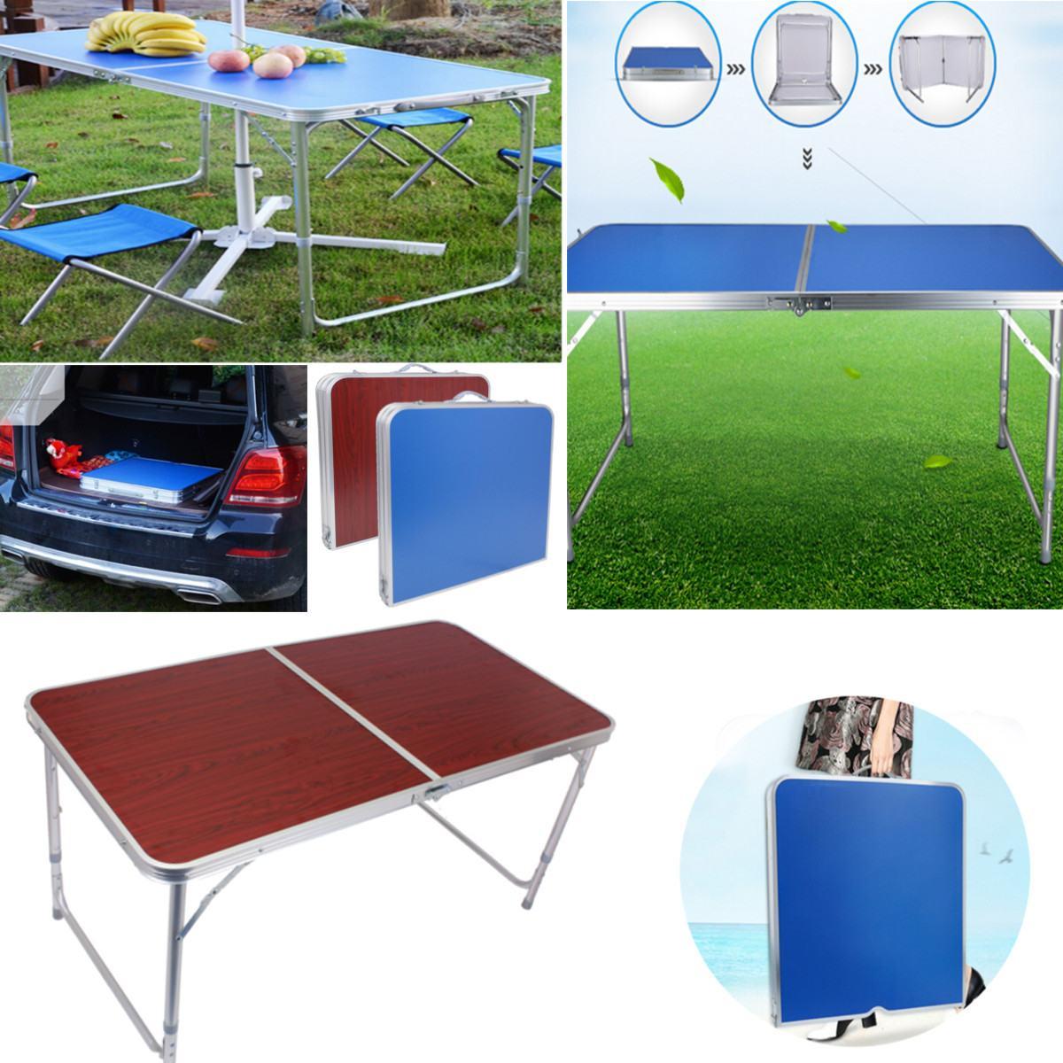 Table pliante réglable en Aluminium bureau de lit d'ordinateur Portable extérieur Portable léger Simple résistant à la pluie Camping barbecue pique-nique Table de fête