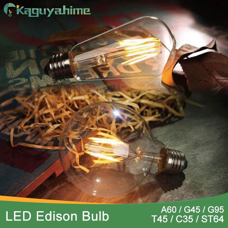 Lights & Lighting Led Bulbs & Tubes Kaguyahime Led Bulb Dimmable 2w 4w 6w 8w E14 E27 Led Light Bulb 220v Vintage Filament Lamp For Anyway Lighting Choice Materials