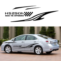 Car Accessories For Lexus HS250h Car Stickers Car Side body Decal Stickers Decals DIY Custom Decoration Racing Sticker 280cm