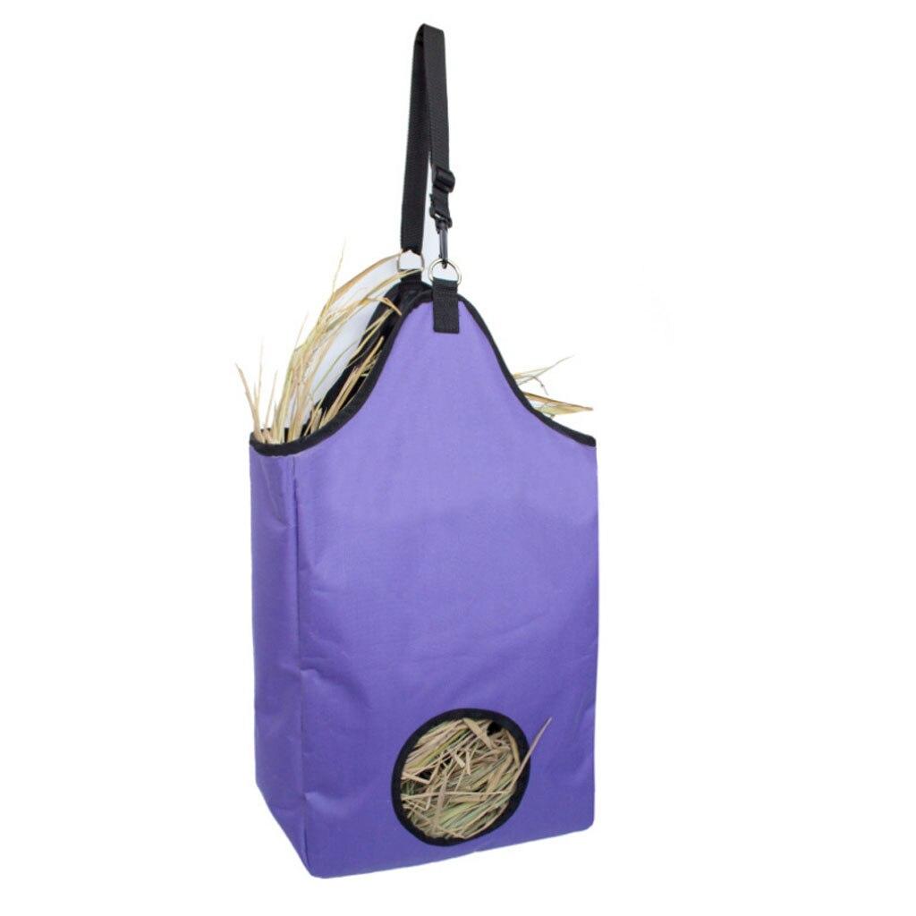 Waterproof Horse Hay Bag Equestrian Slow Feed Haylage Hay Bag Tote Foldable With Travel Bag